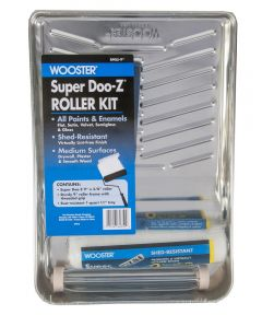 Wooster Super Doo-Z 9 in. Paint Roller Kit with Roller Frame / 3/8 in. Roller Cover / 11 in. Metal Tray