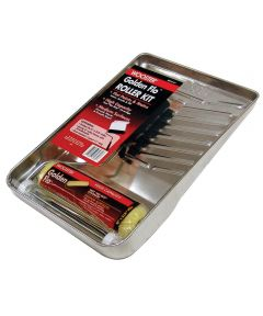 Wooster Golden Flo 9 in. Paint Roller Kit with Roller Frame / 3/8 in. Roller Cover / 11 in. Metal Tray