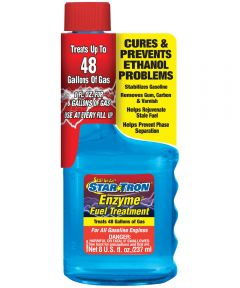 Star Tron Enzyme Small Engine Formula Gasoline Fuel Additive, 8 oz, Bottle, Clear, Liquid
