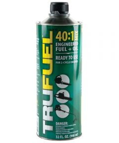 TruFuel 2-Cycle Engine Oil, 32 oz, Steel Can, Green, Liquid