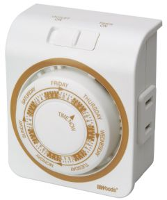 White 7 Day Indoor Security Mechanical Timer