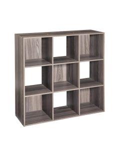Stackable 9 Cube Organizer Shelf, Gray