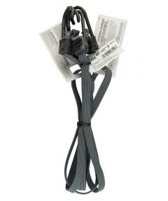 "48"" Gray Narrow Flat Bungee Cord With SST Hooks 2 Count"