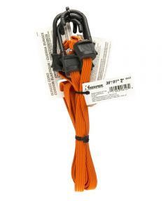 "36"" Orange Narrow Flat Bungee Cord With SST Hooks 2 Count"
