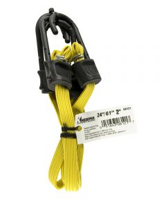 "24"" Yellow Narrow Flat Bungee Cord With SST Hooks 2 Count"