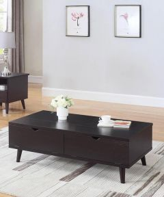 Lift Top Coffee Table with Drawers, Cappuccino