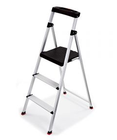"51.2"" X 19.7"" X 3.5"" Type II Rubbermaid 3-Step Aluminum Step Stool"