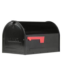 "20"" X 11.7"" X 11.8"" Black Marshall Locking Post Mount Mailbox"