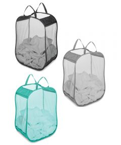 "11"" X 18"" X 24"" Pop & Fold Laundry Bag Assorted Colors"