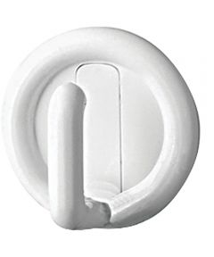 "1"" White Self Adhesive Utility Hook 4 Count"