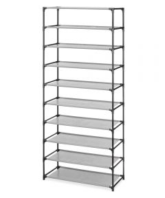 10 Tier Gray Spacemaker Multi-functional Shelving Unit