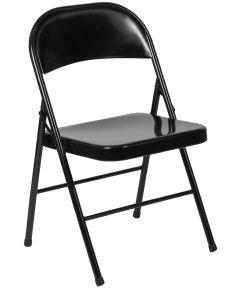 Metal Folding Chair, Black