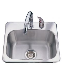 "8"" Stainless Steel Single Bowl Bar Sink"
