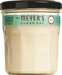 Mrs. Meyer's Soy Scented Candle, Basil Scent, 7.2 oz.