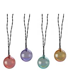 15.42' Multi-Color Solar Powered LED Pearlescent Globe String Lights