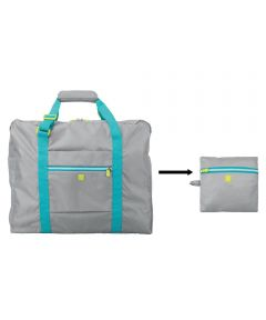"17.69"" X 14.54"" X 7.86"" Gray & Teal Aspen Collapsible Tote"