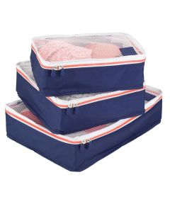 Navy & Orange Aspen Packing Cubes Set Of 3