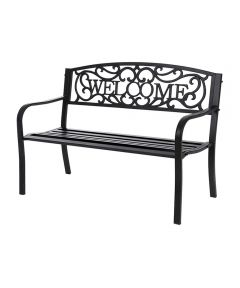 Essentials Metal Welcome Patio/Park Bench