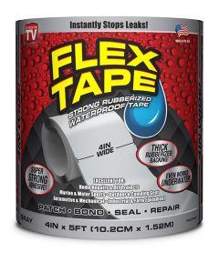 4 in. x 5 ft. Waterproof Flex Tape, Gray