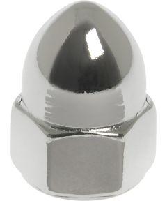 Chrome High Crown Acorn Nuts (#10-32)