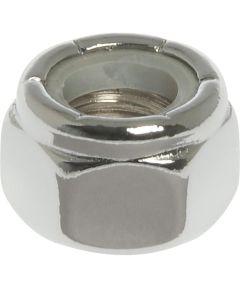 4-Pack Chrome Nylon Insert Lock Nut (1/4-20)