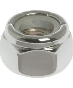 3-Pack Chrome Nylon Insert Lock Nut (3/8-16)