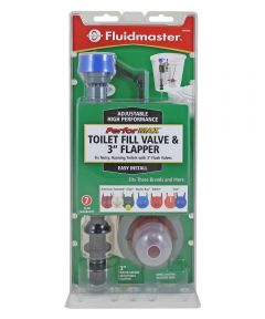 Fluidmaster 3 in. PerforMAX Adjustable Flapper Kit and Fill Valve