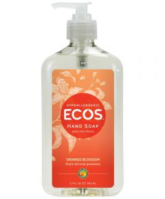 ECOS Hypoallergenic Hand Soap, Orange Blossom Scented, 17 oz. Pump