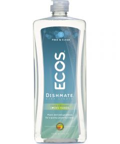 ECOS Dishmate Hypoallergenic Dish Soap, Free & Clear Fragrance Free, 25 oz.