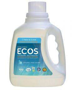 ECOS Hypoallergenic Laundry Detergent, Free & Clear Fragrance Free, 100 oz.