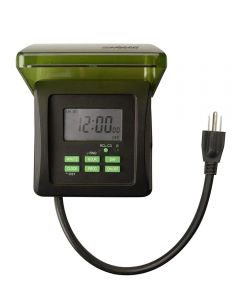 Woods Outdoor 7-Day Heavy Duty Digital Outlet Timer