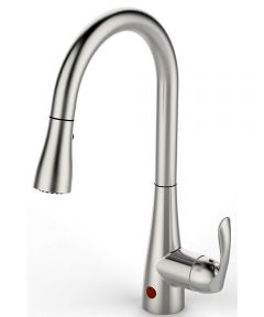 Flow Motion Sensor Kitchen Faucet with Single-Handle Pull-Down Sprayer, Brushed Nickel