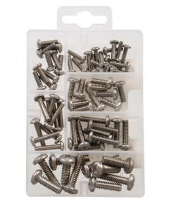 Stainless Steel Pan Head Phillips Machine Screws Kit Small