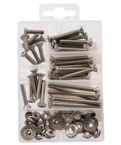 Stainless Steel Oval Head Phillips Machine Screws Kit Small