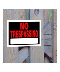 No Trespassing Sign, 8 x 12