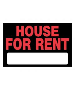 House For Rent Sign, 8 x 12, Plastic