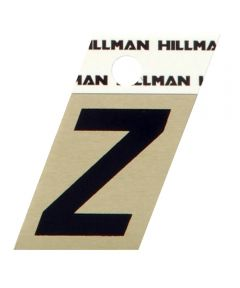 1.5 in. Black and Gold Adhesive Letter Z, Angle Cut Aluminum