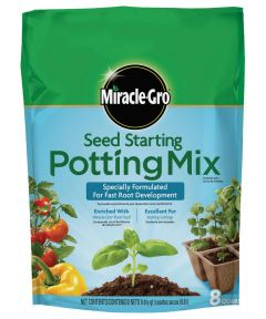 Miracle-Gro 8 Quart Seed Starting Potting Mix, 0.03-0.03-0.03