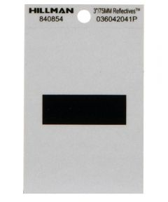 3 in. Black and Silver Adhesive Hyphen
