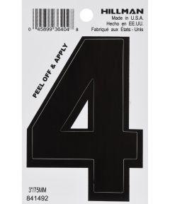 3 in. Black Adhesive Number 4