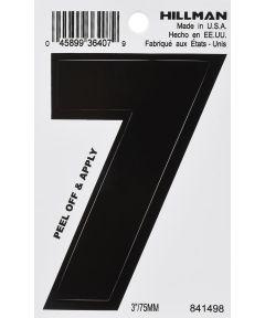 3 in. Black Adhesive Number 7