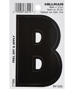 3 in. Black Adhesive Letter B