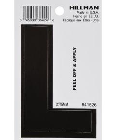 3 in. Black Adhesive Letter L