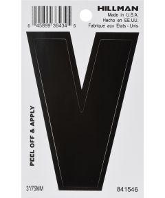 3 in. Black Adhesive Letter V