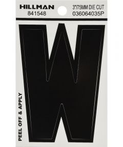 3 in. Black Adhesive Letter W