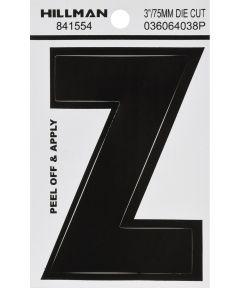 3 in. Black Adhesive Letter Z