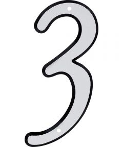 4 in. Nail-On Reflective House Number 3