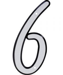 4 in. Nail-On Reflective House Number 6
