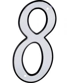 4 in. Nail-On Reflective House Number 8