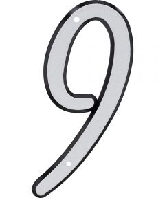 4 in. Nail-On Reflective House Number 9